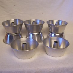Childrens Play Kitchen Home Depot Sinks And Faucets 8 Vintage Mini Angel Food Cake Pans Aluminum