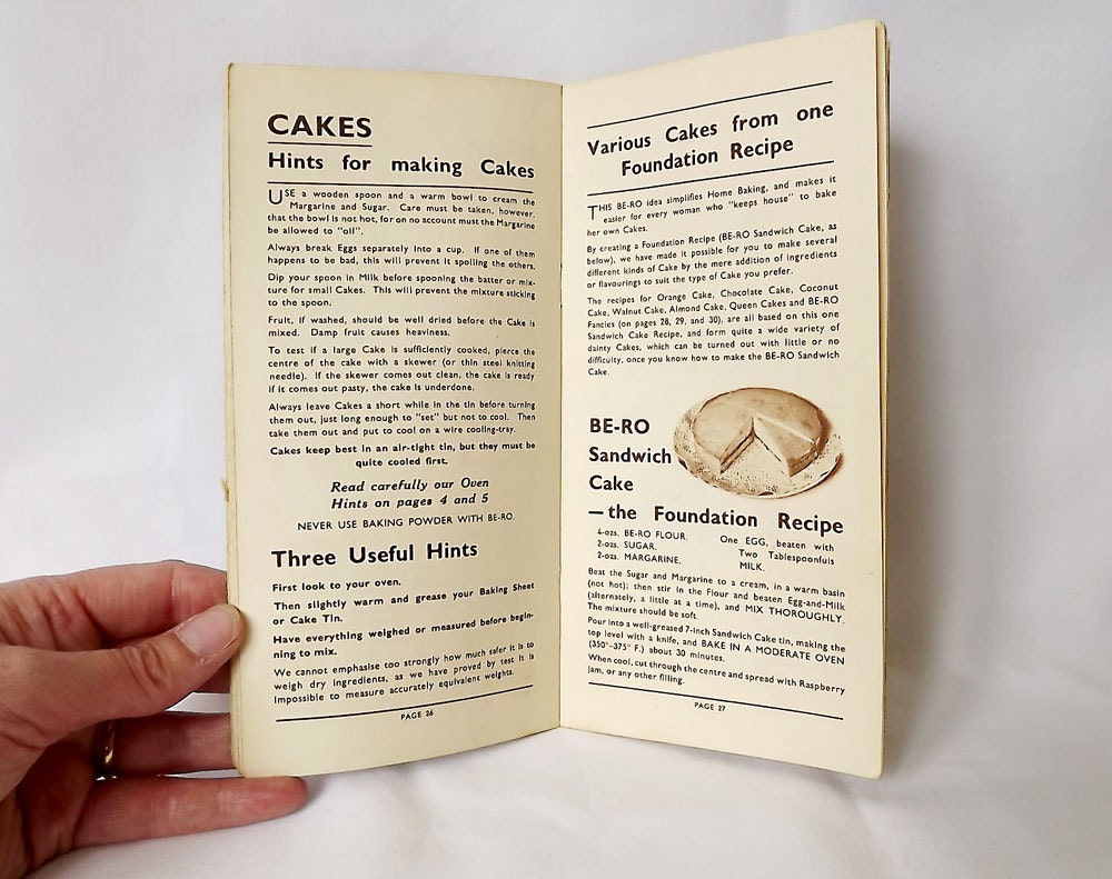 Be-Ro Home Recipes book from the 1950s