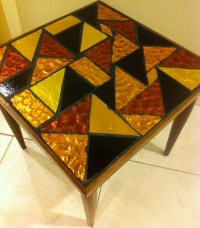 Items similar to Mid Century Modern Mosaic Stained Glass ...
