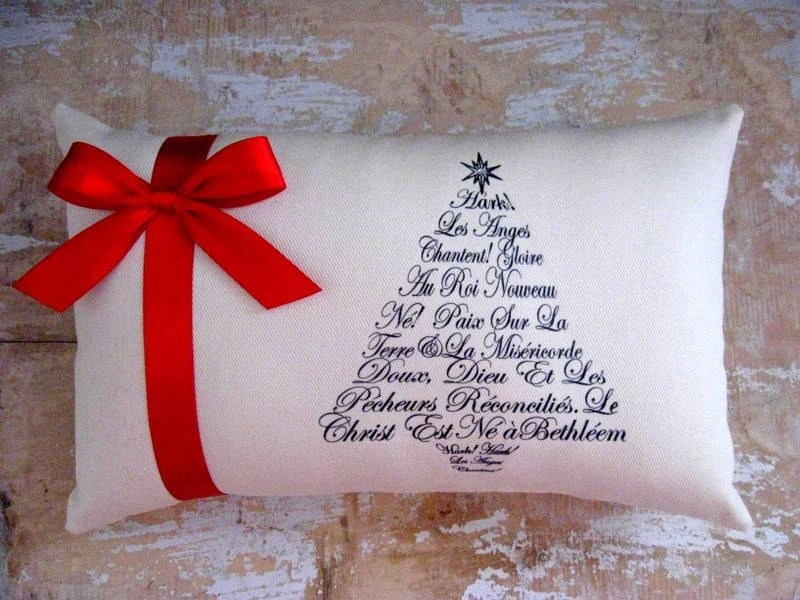 Christmas Pillow Christmas Tree French Country by