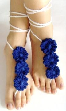 24ladiesshopping Crochet Barefoot Sandals