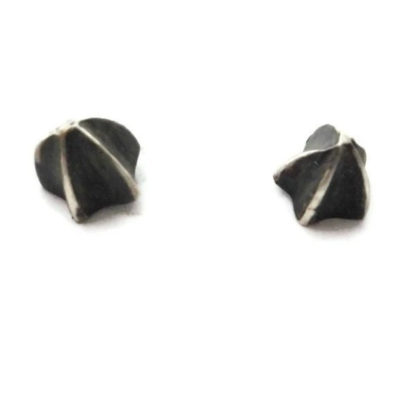 Small Spike Earring Studs Oxidized Silver Studs by SHERIBERYL