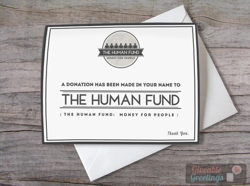Human Fund Donation Has Been Made