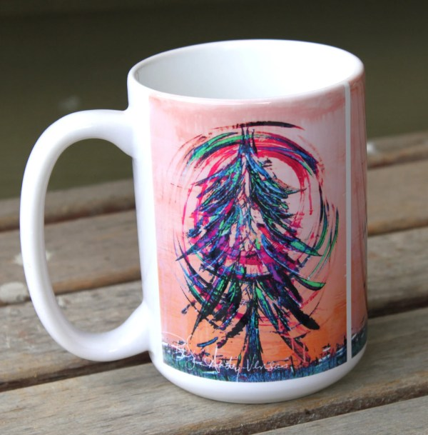 Sunset Tree Coffee Mug 15 oz
