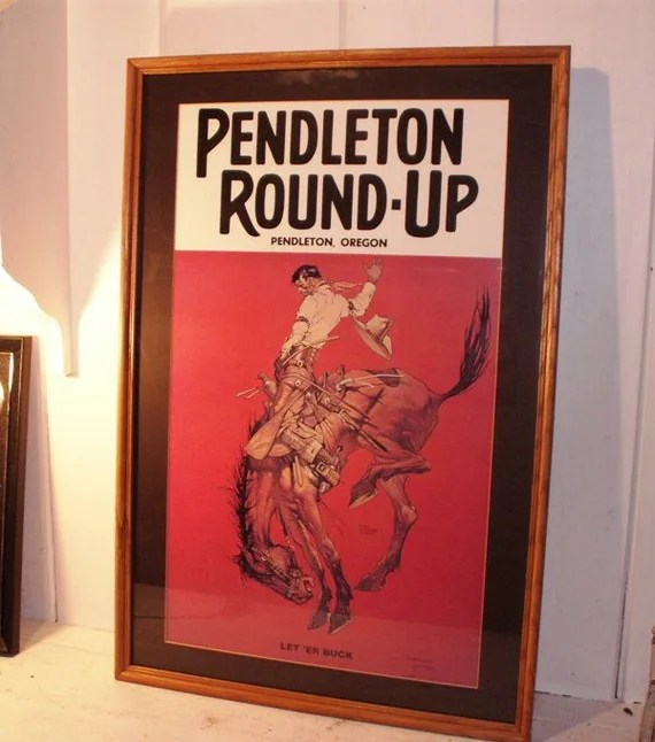 Vintage Rodeo Event Poster Pendleton by LegendaryMerchandise