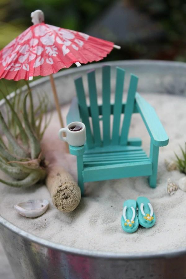 miniature morning beach
