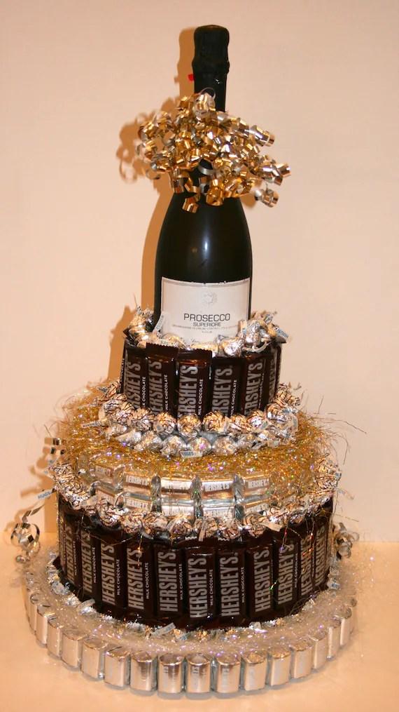 Items similar to Chocolate Candy Wine Cake on Etsy