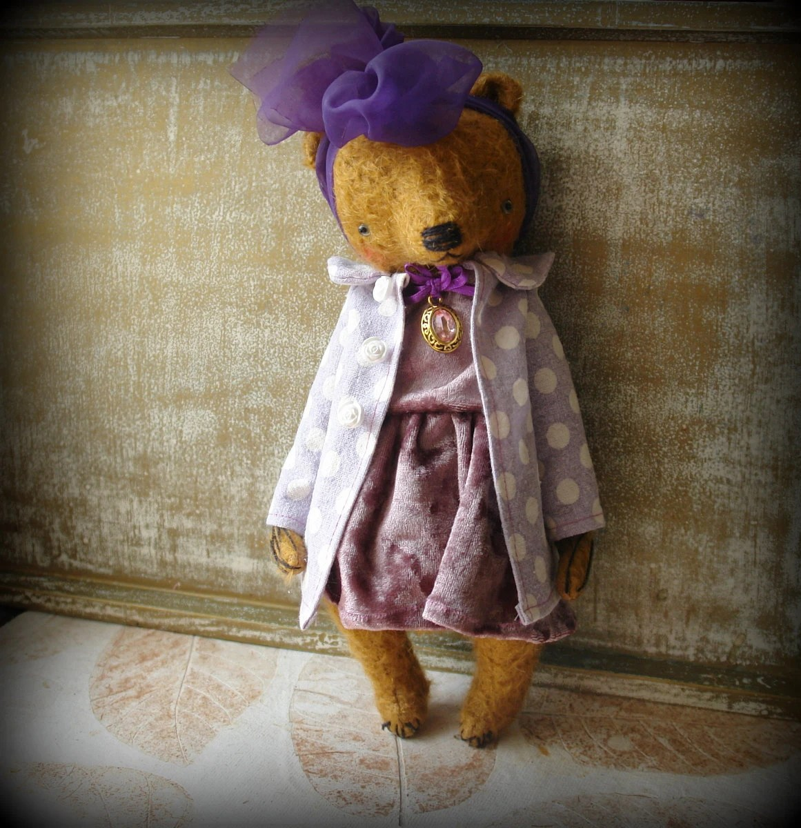 PDF Epattern for 11 inch Artist Mohair Vintage Style Teddy Bear Katya - the pattern for the clothes are included - by Sasha Pokrass - makeyourownbear