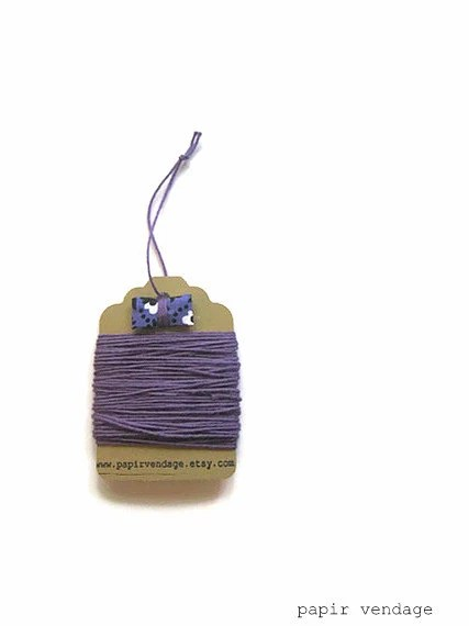 Eggplant Purple Bakers Twine, Solid  Bakers Twine, 10yds, Fall Colors, Solid Bakers Twine , Halloween Bakers Twine, Purple Bakers Twine - papirvendage
