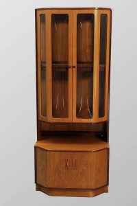 Items similar to Danish Modern Teak China Display Curio