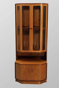 Items similar to Danish Modern Teak China Display Curio ...