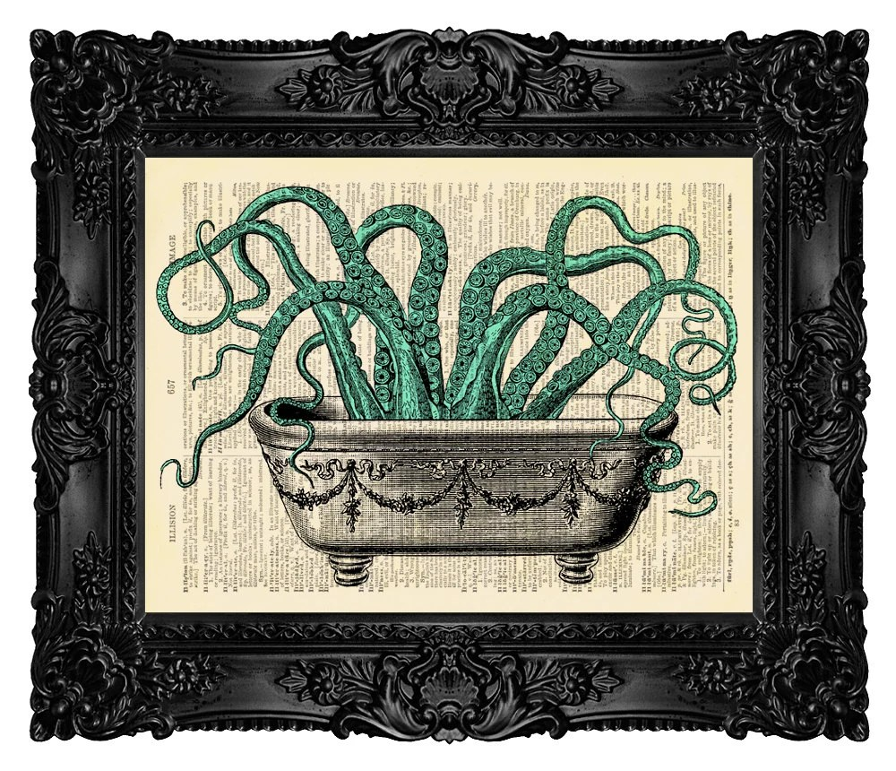 BATHROOM DECOR Octopus Wall Decal Octopus by MadameBricolagePrint