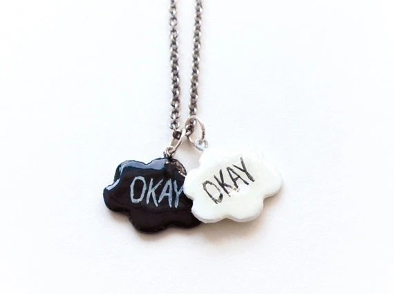 The Fault in Our Stars Okay cloud pendants