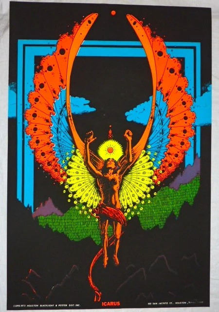 Items similar to Vintage 1973 Houston BlackLight Poster Co