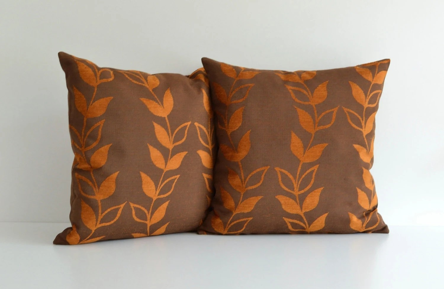 fancy sofa pillows images of tables 20x20 orange and brown decorative throw pillow for couch