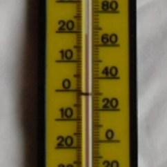 Kitchen Thermometer Kids Pretend Vintage Springfield Made In Usa