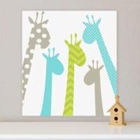 Giraffe Children's Wall Art Nursery Wall Art Giraffe