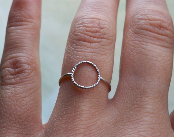 Sterling Silver Karma Ring With Rope Detail Eternity