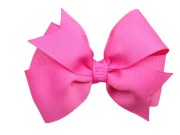 4 bright pink bow hair