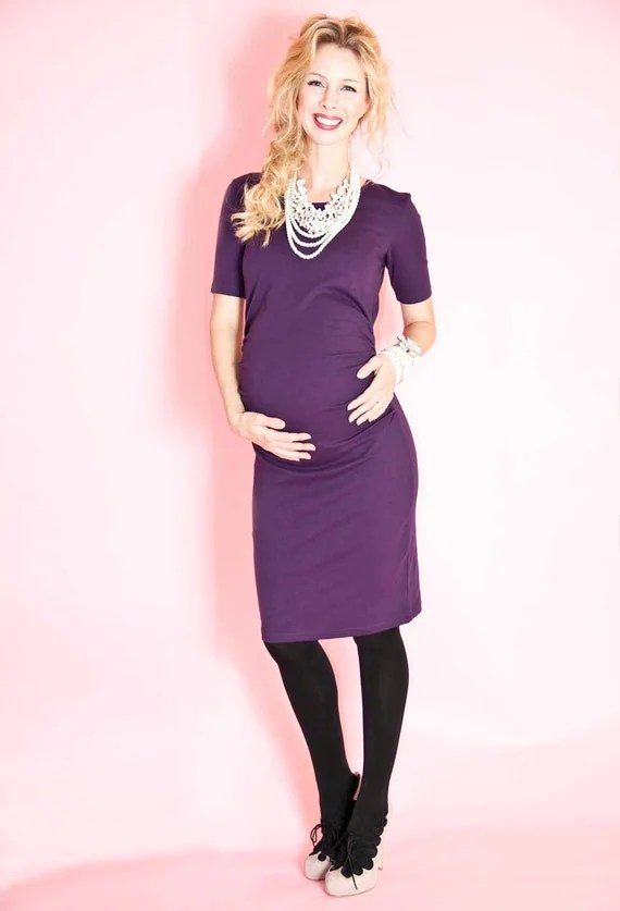 Purple Maternity Babyshower Dress