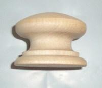 2 Birch Hard Wood British Cabinet Pulls / Drawer Knobs