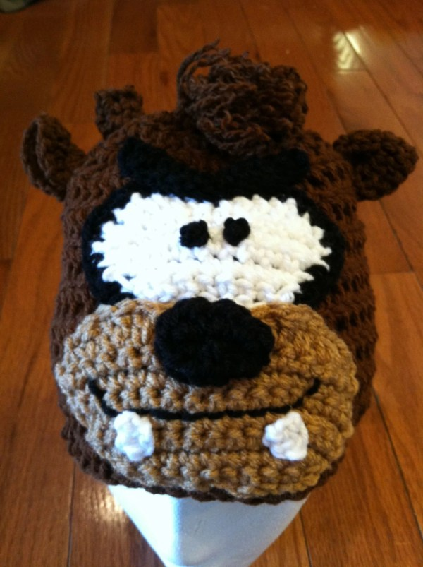 Taz Tasmanian Devil Crochet Beanie Skullcap Hat Sizes Newborn