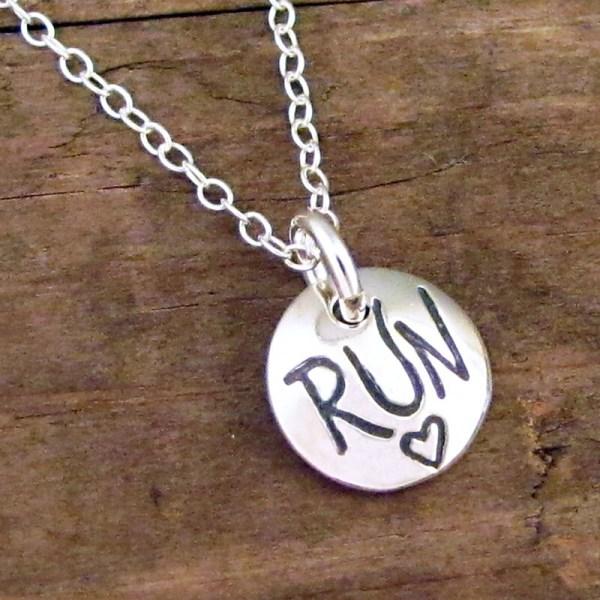 Run Necklace Running Jewelry Charm Marathon