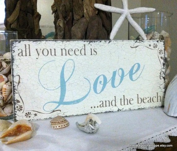 Download Items similar to All you need is LOVE and the BEACH, Beach ...