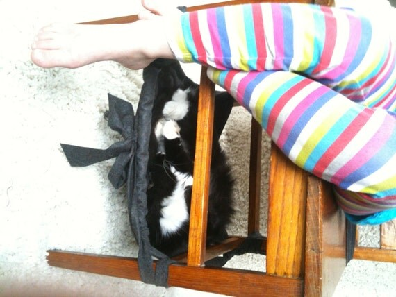 Items similar to Hanging Under Chair Cat Hammock Pet Bed  Unique Design and Function on Etsy