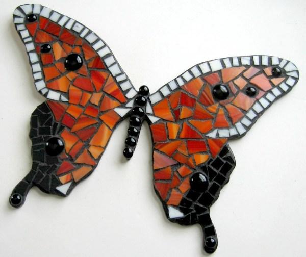 Mosaic Butterfly Mixed Media Wall Decor Red Mashedpotatomosaics