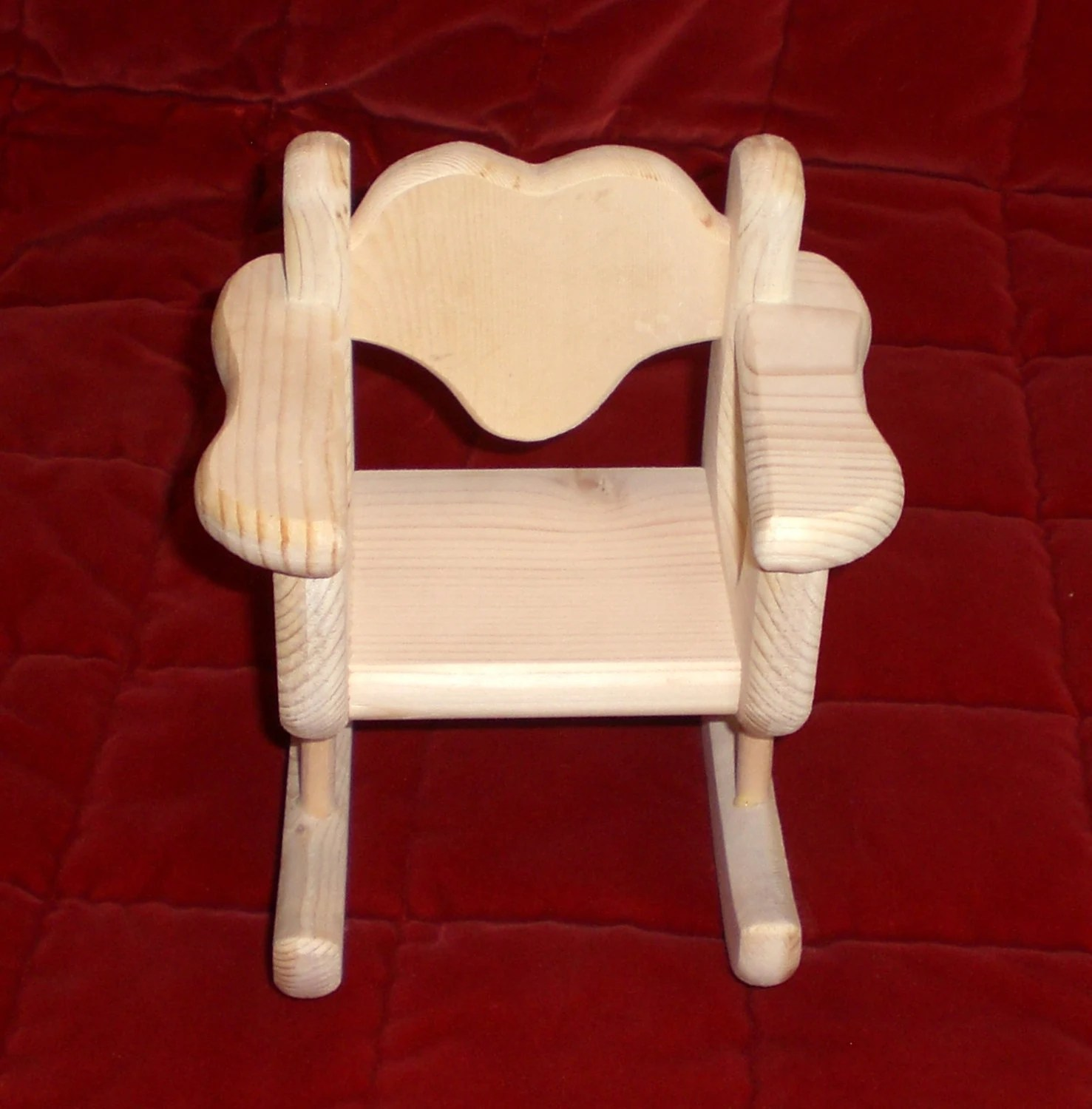 unfinished rocking chair patio table and set for barbie size doll by judy illi