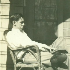 1920s Rocking Chair Building A Man Sitting On Front Porch American By Alaskavintage