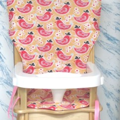 Eddie Bauer Wood High Chair Childrens Rocking Chairs Cover Replacement Pad Pretty Bird