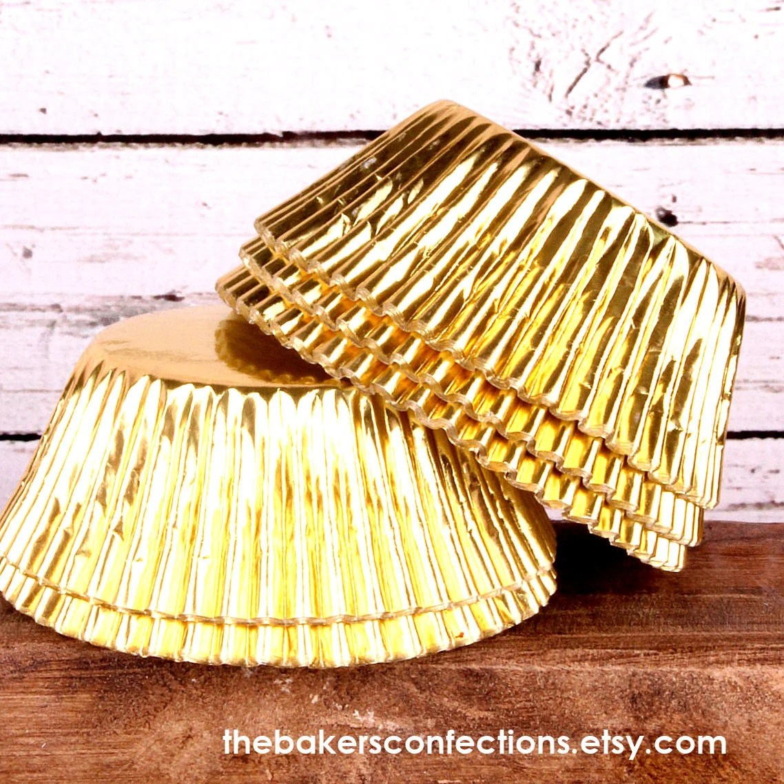 Gold Foil Cupcake Liners (100)