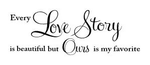 Popular items for love story decal on Etsy