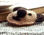 Teddy Bear Crochet Brooch - dmtgun3