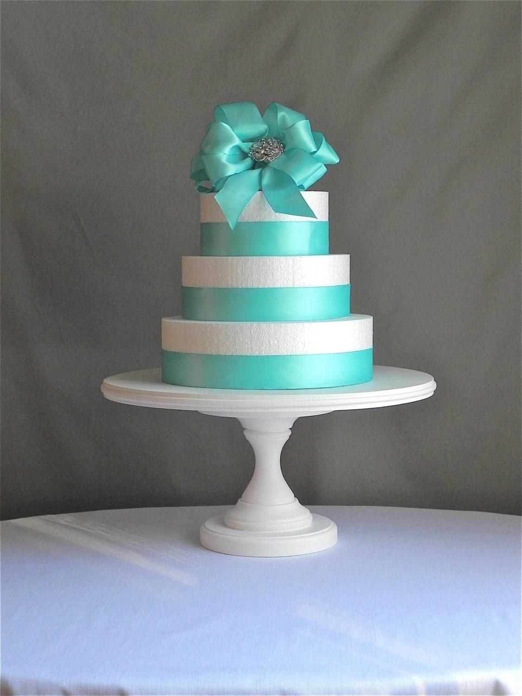 Cake Stand 14 Round Cupcake Dessert White Wooden