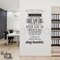 Vinyl Wall Sticker Decal Work Hard