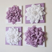 Set of Four Lilac and White 12 x12 Canvases Wall Art by ...