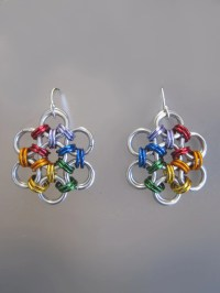 Items similar to Rainbow Colored Daisy Chain Maille ...