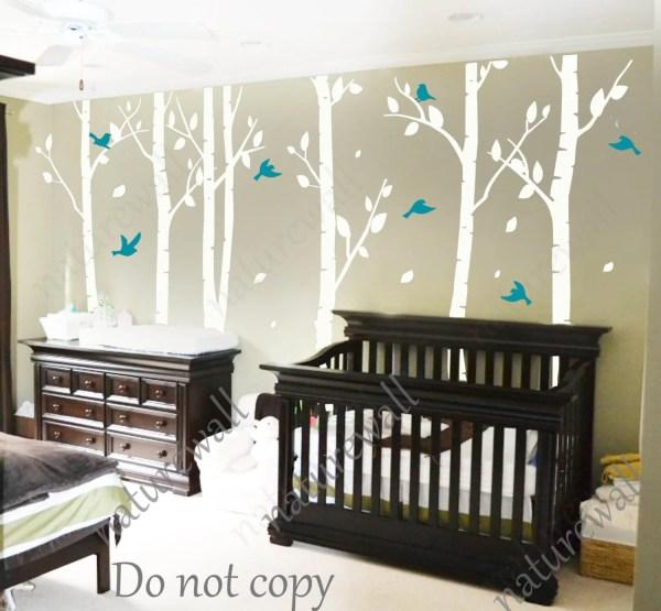 White Birch Tree Wall Decals