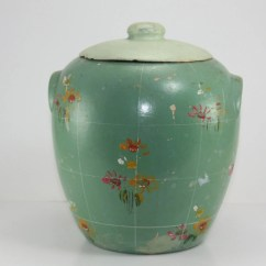 Folding Chair Green Covers For Hire Alberton Vintage Mccoy Cookie Jar Aqua Painted Stoneware Crock