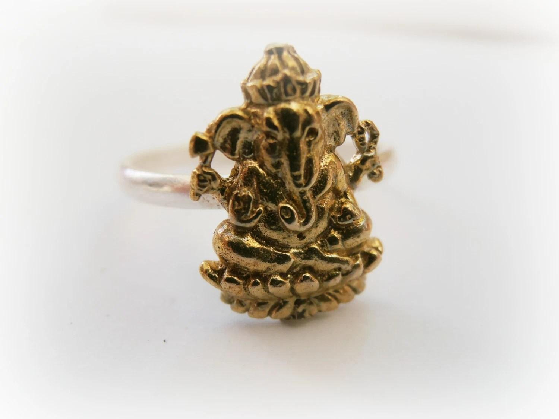 Popular items for ganesh ring on Etsy