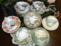 7 Mismatched Cups and Saucers Lot Tea Party by ...