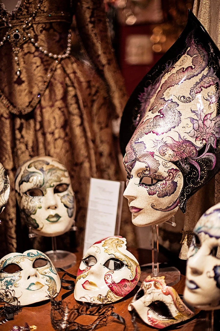 Venice, Masks, Costume, Carnival, Italy, Travel, Black and White, Wall Art, Gift Idea, Home Decor, fPOE, Fine Art Photography Image, - janepackard
