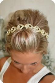 bridal hair piece gold elsie wedding