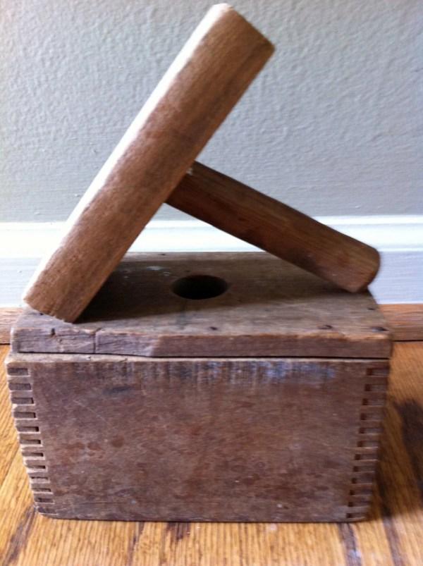 Primitive Wooden Butter Mold Press
