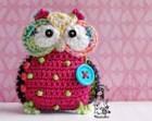 Crochet owl hanger / pendant / ornament - crochet pattern, DIY