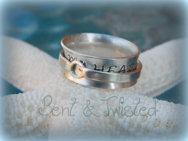Silver Spinner Ring Hidden Message