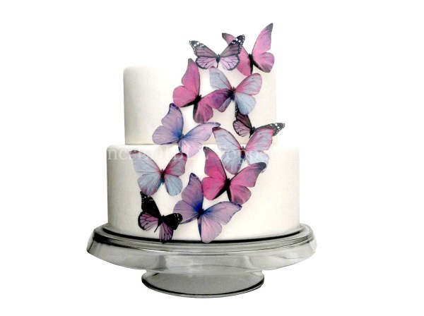 Edible Butterfly Cake 12 Large Prettiest Incredibletoppers